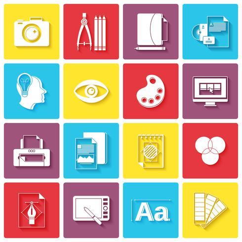 Icone del design grafico vettore