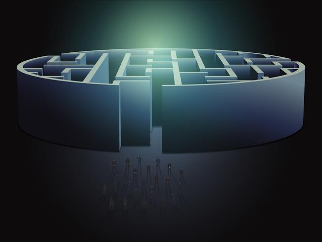 Concetto di business labirinto vettore