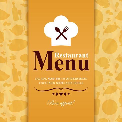 Modello di menu del ristorante vettore
