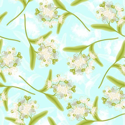 Seamless pattern di tiglio vettore