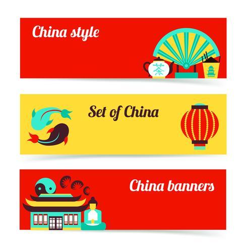 Set di banner Cina vettore
