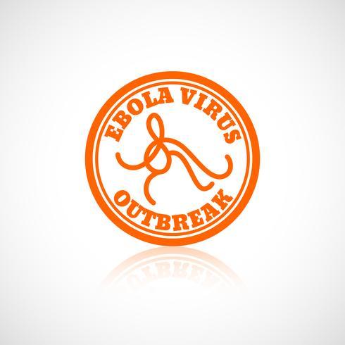 Icona del virus Ebola vettore