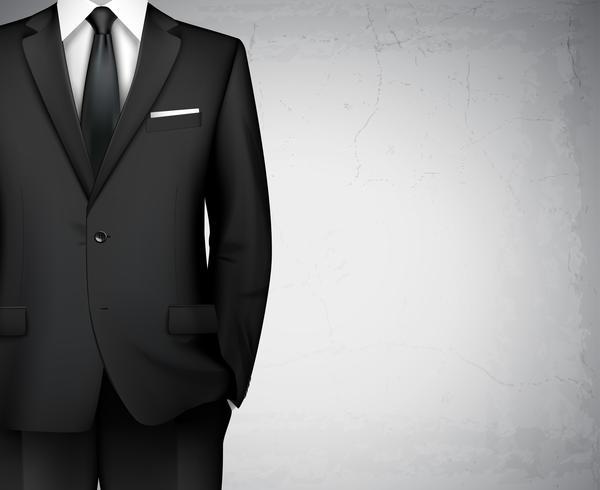 Sfondo del vestito dell'uomo d'affari vettore