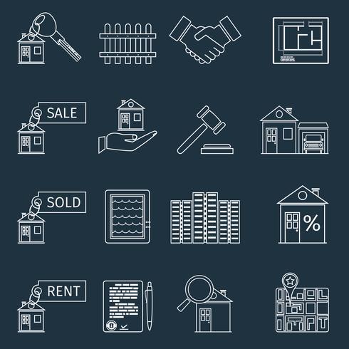 Icone del profilo immobiliare vettore