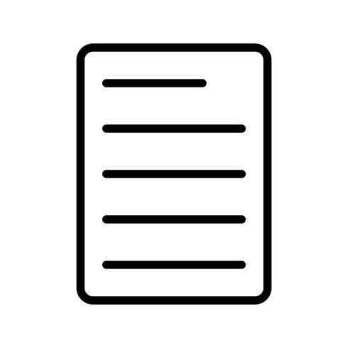 Icona della linea di documento nero vettore