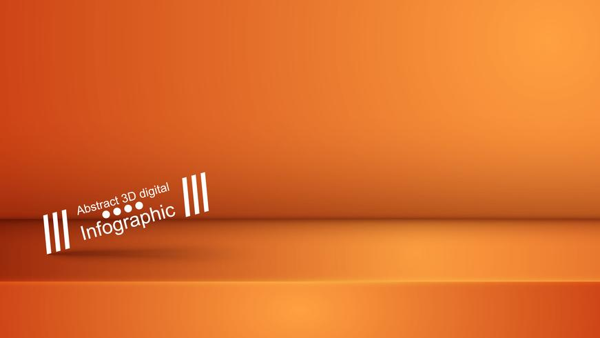 Modello studio viola arancione, photostudio, stanza. vettore