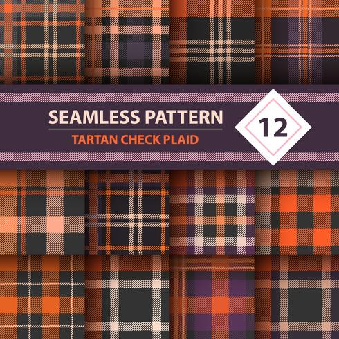 Classico scozzese, Merry Christmas check plaid seamless patterns. vettore