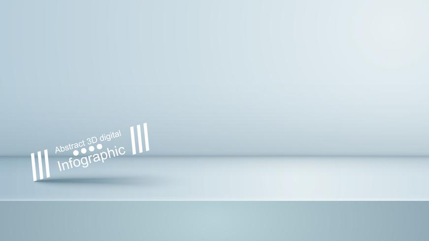 Modello bianco viola studio, photostudio, stanza. vettore