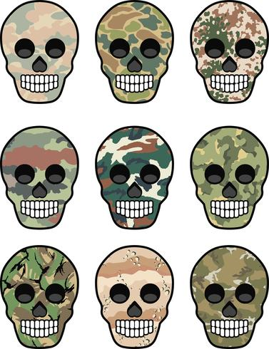 emblema dell'esercito con teschio vettore