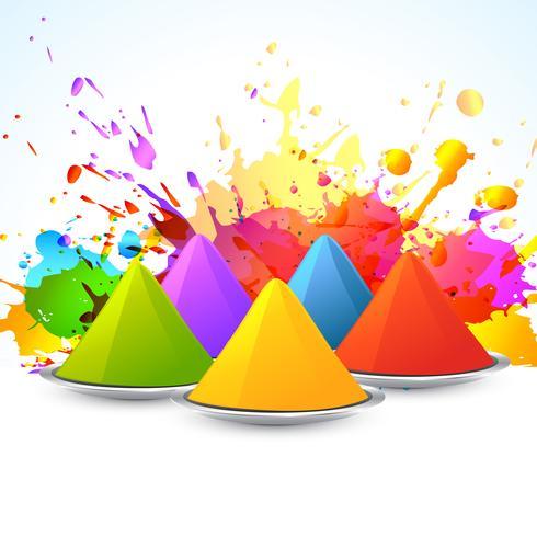 festival colorato di holi vettore