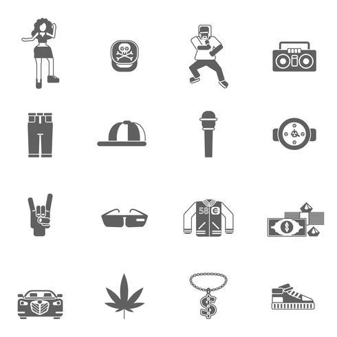 Icone di musica rap vettore