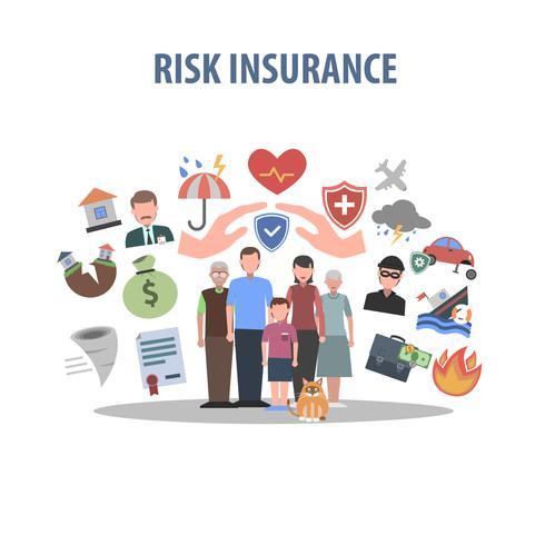 Concetto di assicurazione piatta vettore