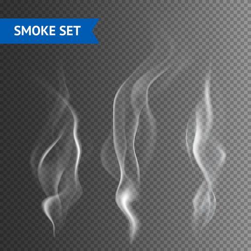 Fumo Sfondo trasparente vettore