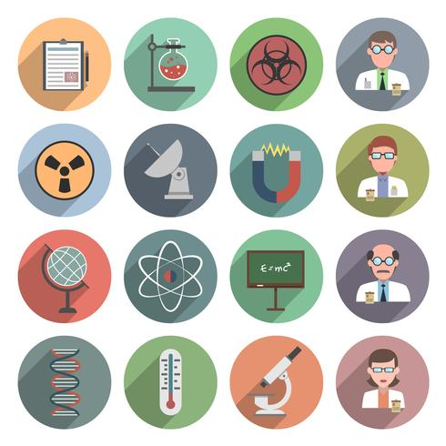 icona della scienza piatta vettore