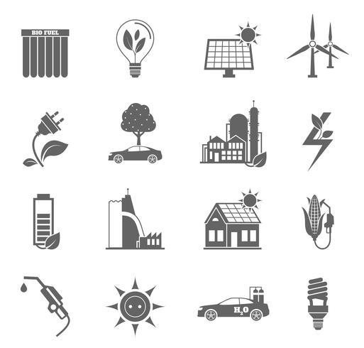 icona di energia eco vettore