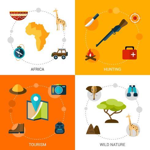 Set di icone di Safari vettore