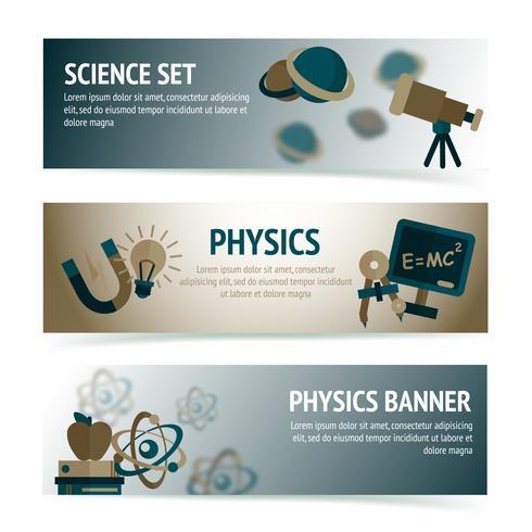 Banner di scienze fisiche vettore