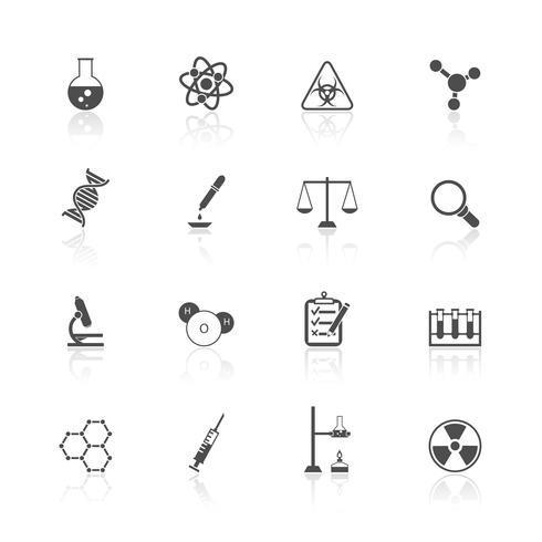 Set di icone di chimica vettore