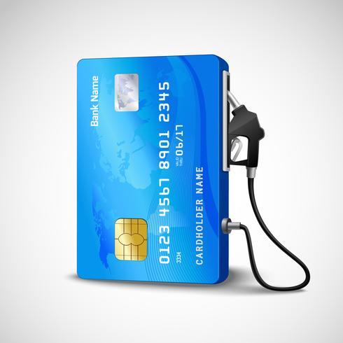 Distributore di benzina con carta di credito vettore
