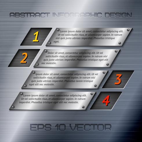 Opzioni di infografica metallo astratto vettore