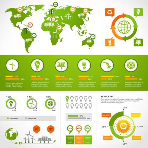 Modello di layout di infografica di energia vettore