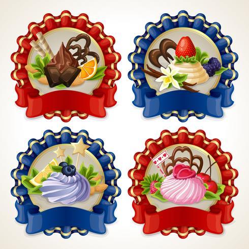 Banner di nastro di dolci vettore