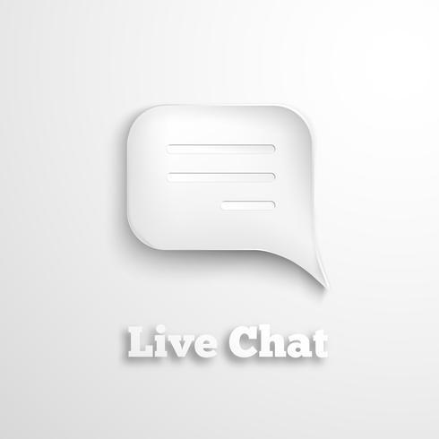 Icona della chat dal vivo vettore