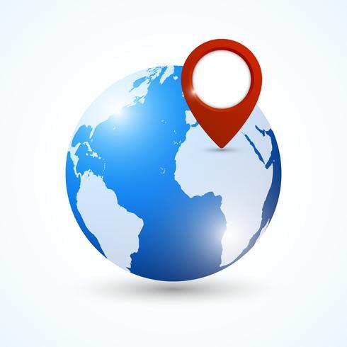 Perno di navigazione Globe vettore