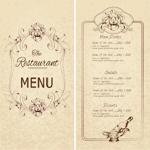 Modello di menu del ristorante? vettore