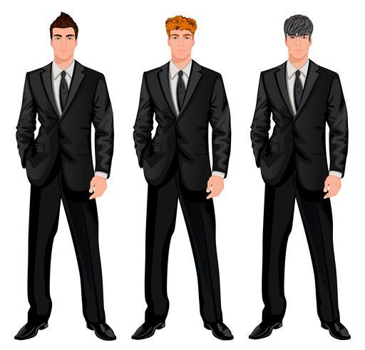 Set uomo d'affari vettore