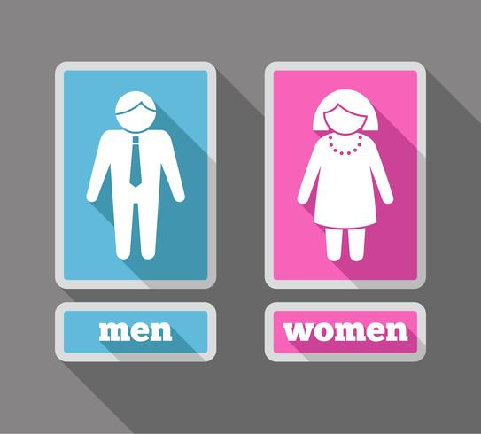 Icone di donne e uomini colorate vettore