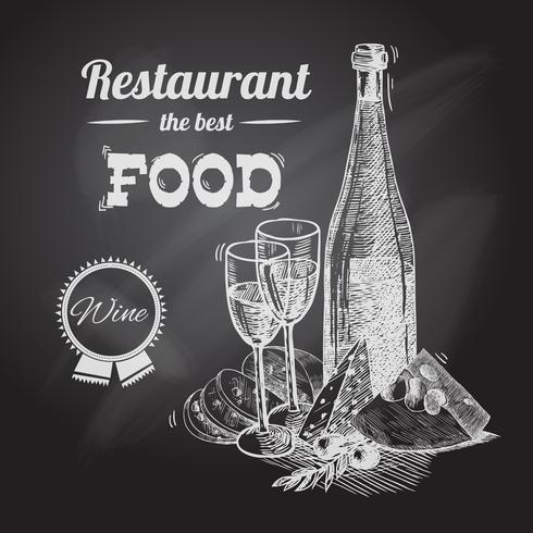 Poster di vino vettore