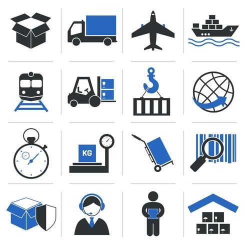 Icone di servizio logistico vettore