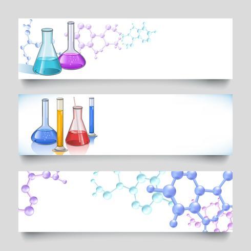 Banner di laboratorio chimico vettore