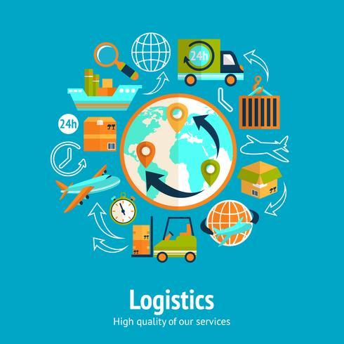 Concetto di catena logistica vettore