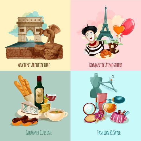 Set turistico di Parigi vettore