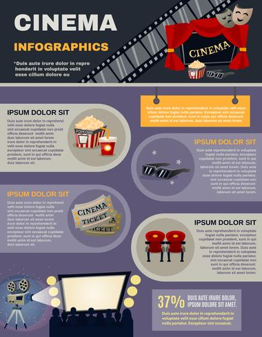 Set di infografica cinematografica vettore