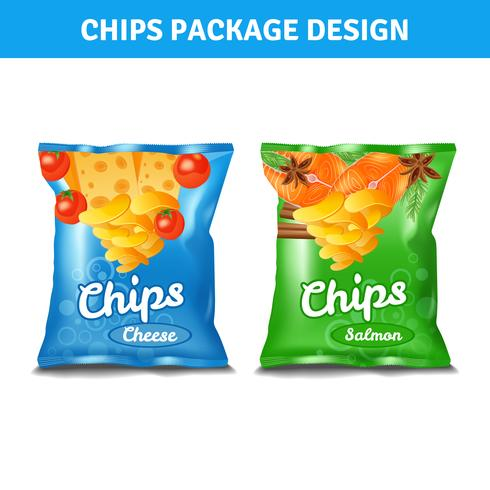 Chips Pack Design vettore