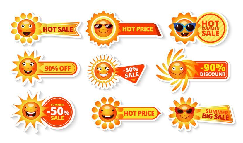Tag di vendita estivi vettore