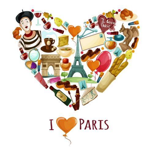 Poster turistico di Parigi vettore