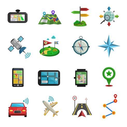 Set di icone piatte posizione vettore