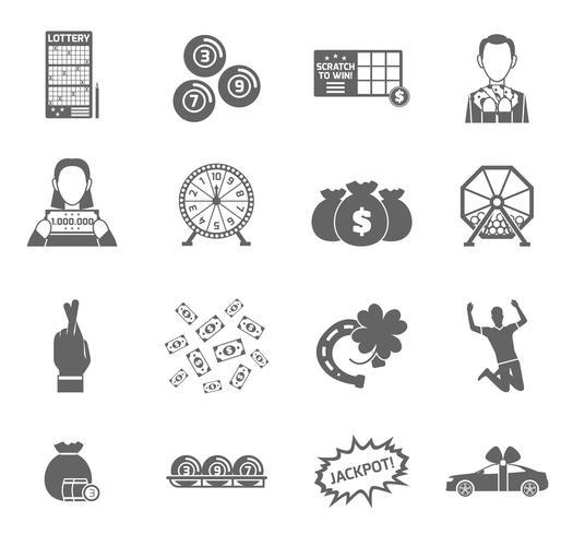 Set di icone della lotteria vettore