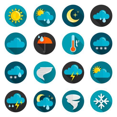 Set di icone piane del tempo vettore