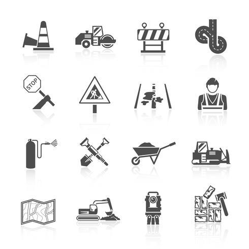 Icona del lavoratore di strada vettore