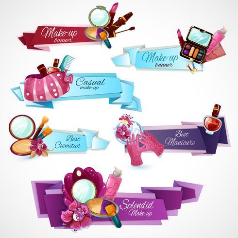 Set di banner cosmetici vettore