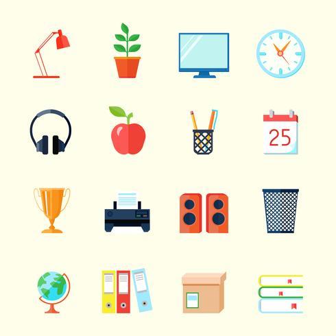 Icone interne della stanza vettore