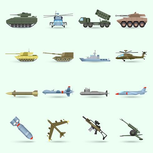 Set di icone dell'esercito vettore