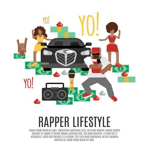concetto di musica rap vettore