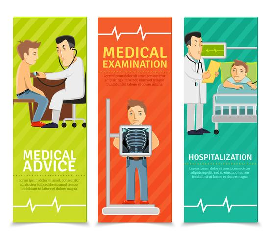 Banner per esami medici vettore