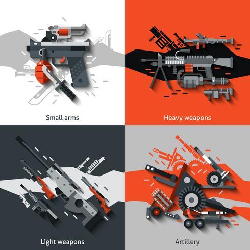 Concetto di design delle armi vettore